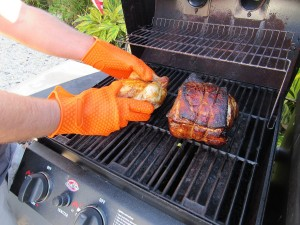 heat resistant bbq gloves silicone gloves