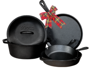 lodge cast iron set for christmas