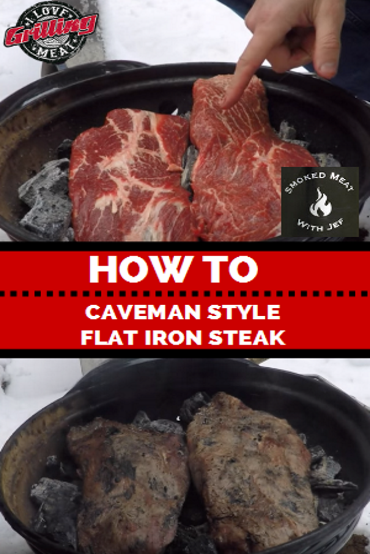 Caveman Style Flat Iron Steak Recipe