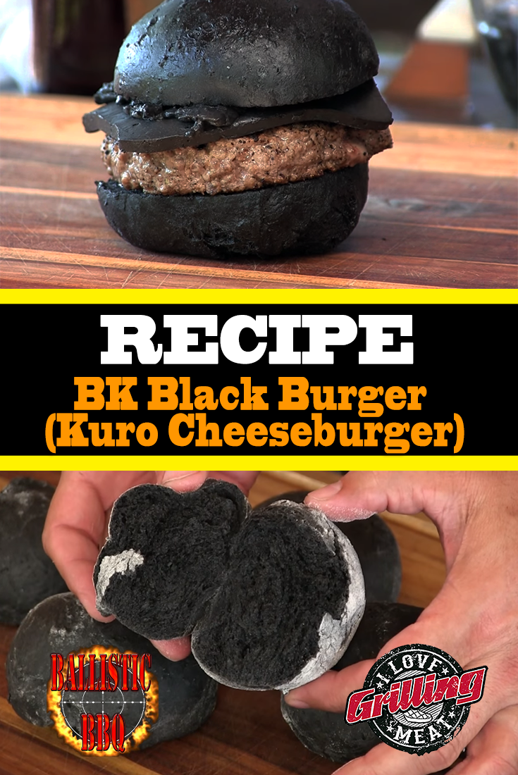BK Black Burger Recipe (Kuro Cheeseburger)