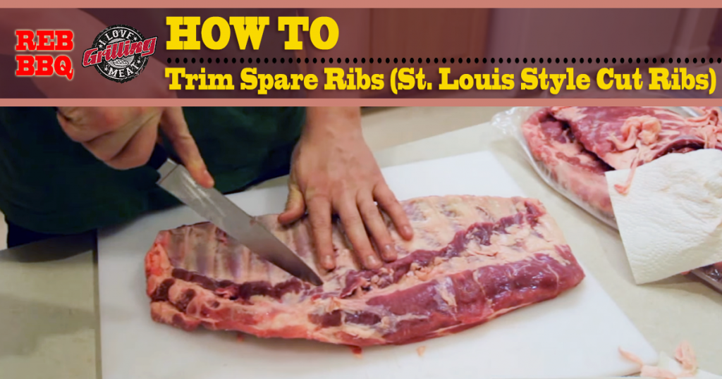 How To Trim Spare Ribs (St. Louis Style Cut Ribs) FB