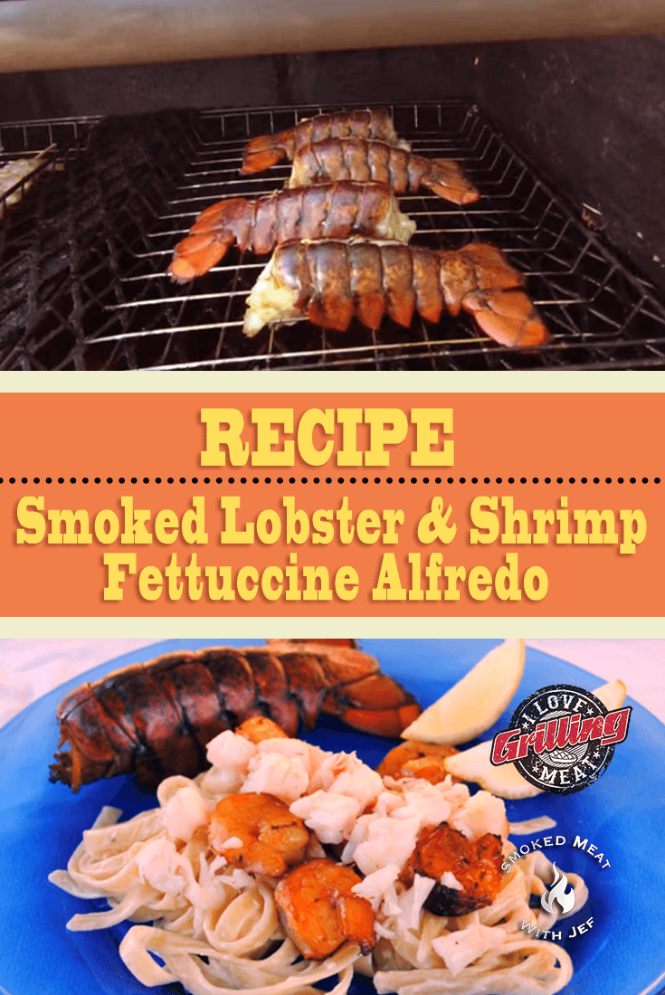 Smoked Lobster and Shrimp Fettuccine Alfredo Recipe
