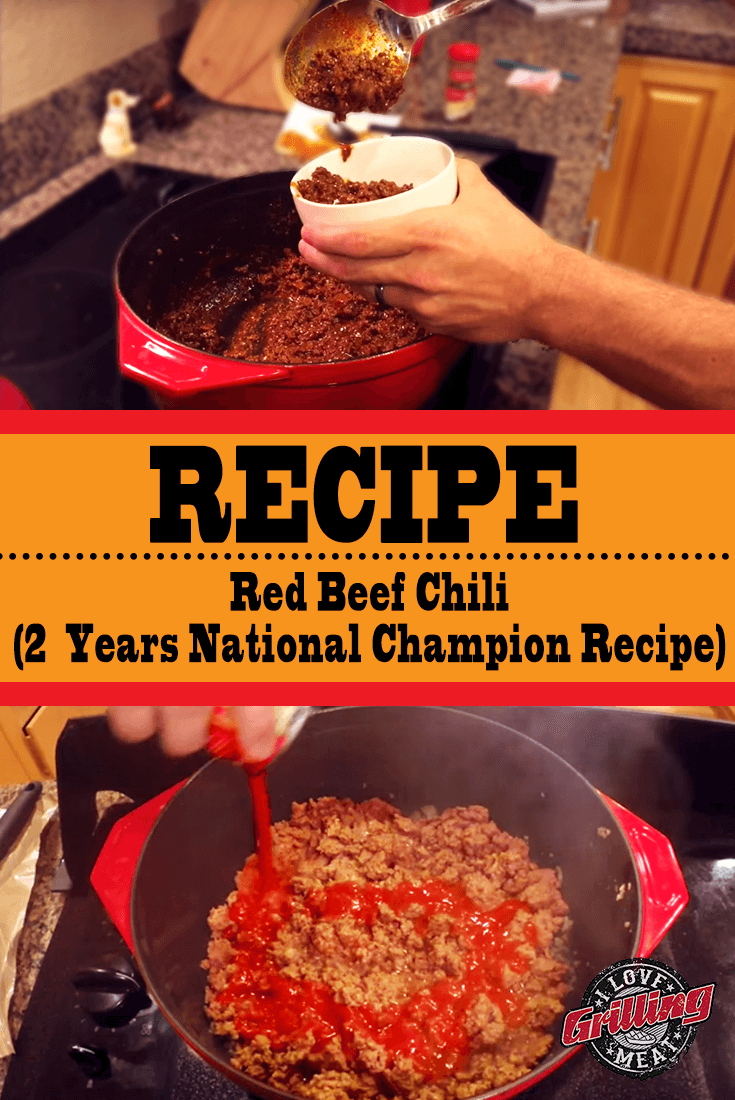 Red Beef Chili Recipe Two Years National Champion Recipe