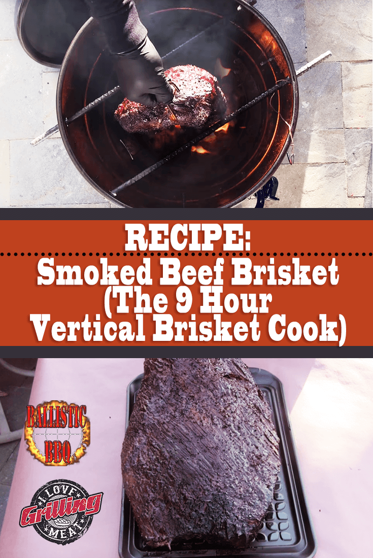 Smoked Beef Brisket Recipe (The 9 Hour Veritcal Brisket Cook)