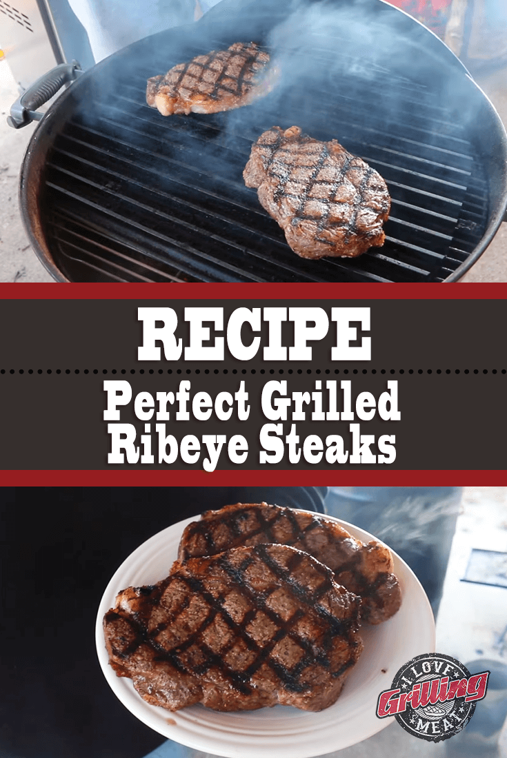 Perfect Grilled Ribeye Steak (with Red Wine Mushroom Sauce)