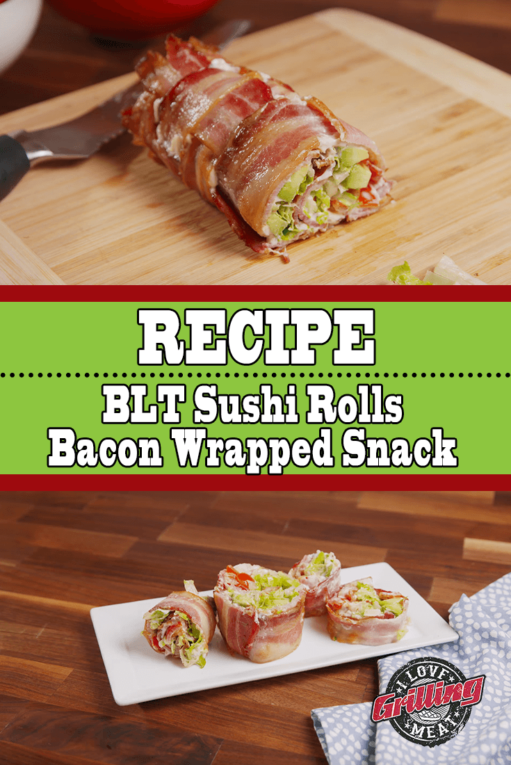 BLT Sushi Rolls – Bacon Wrapped Snack