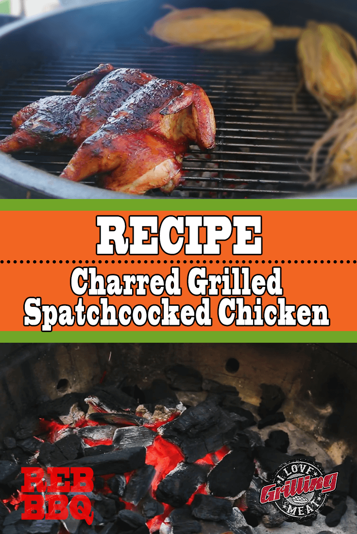Charred Grilled Spatchcocked Chicken