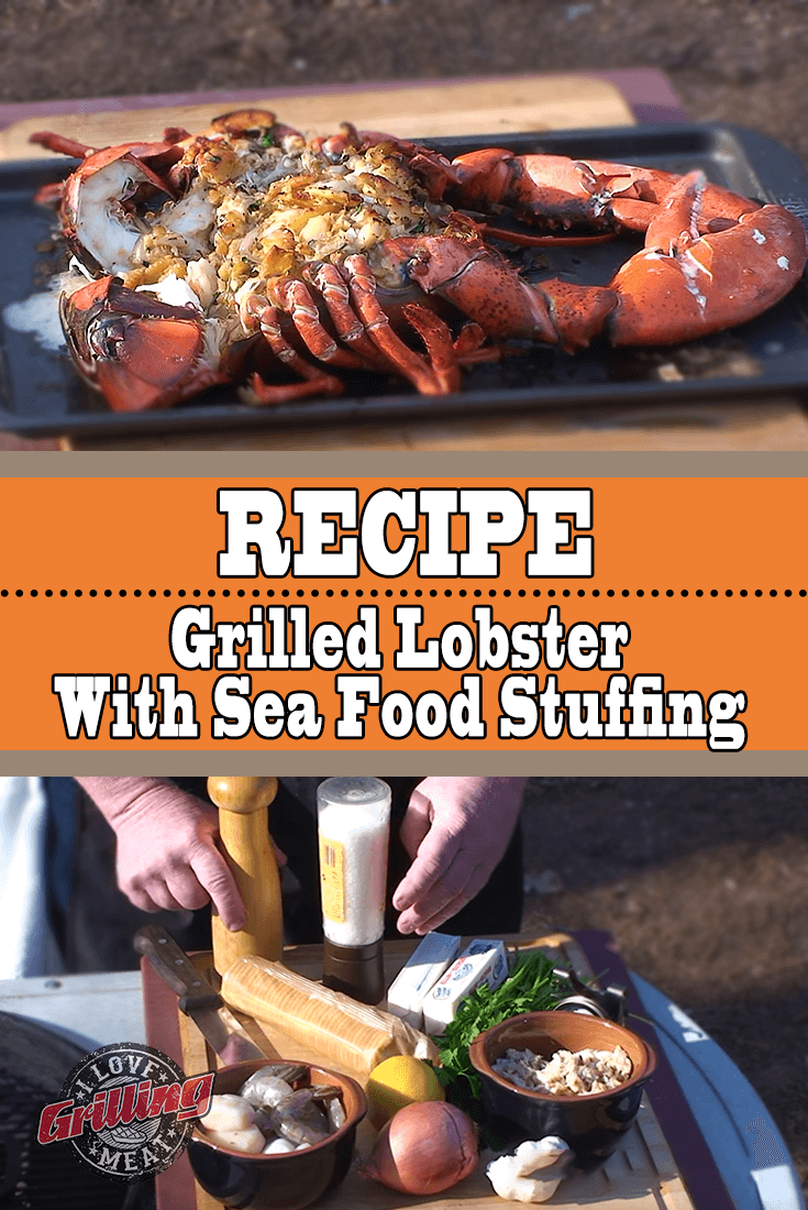 Grilled Lobster With Seafood Stuffing Recipe