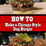 Chicago Dog Burger Recipe! How To Make a Chicago Style Dog Burger