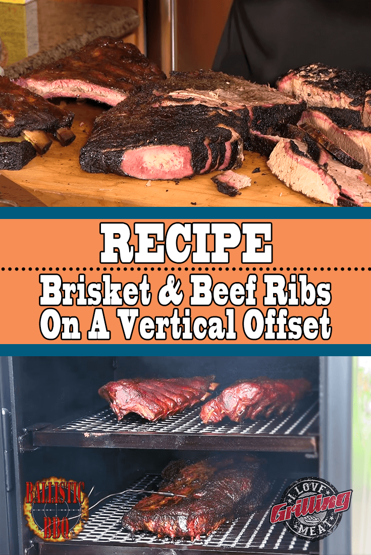Smoked Brisket and Beef Ribs on Vertical Offset Smoker