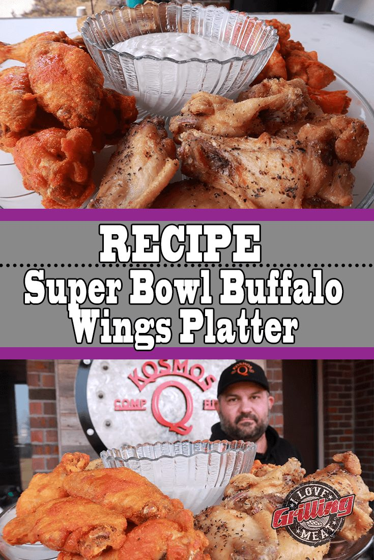 Super Bowl Buffalo Wings Platter (Backyard Wings Recipe)
