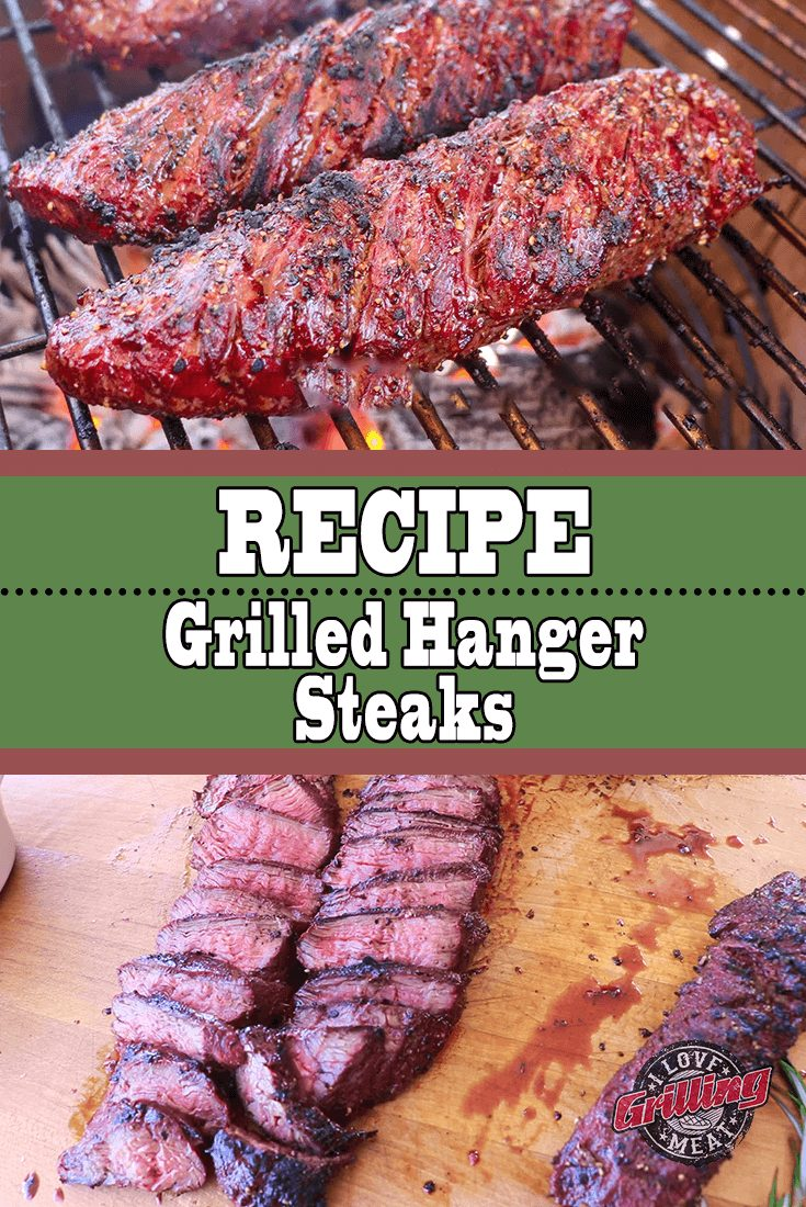 Grilled Hanger Steaks Recipe with Mushroom Sauce