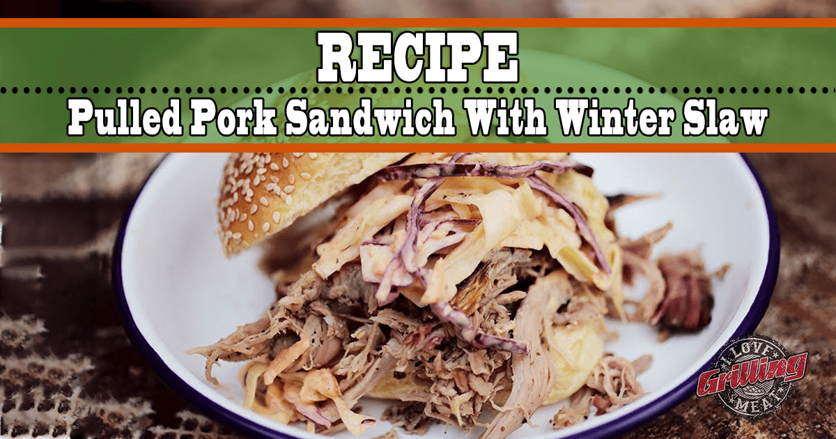 Pulled Pork Sandwich with Winter Slaw
