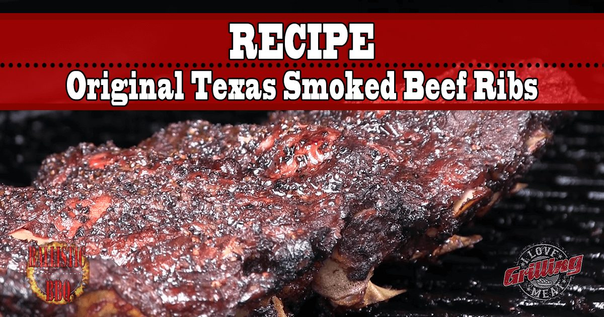Original Texas Smoked Beef Ribs