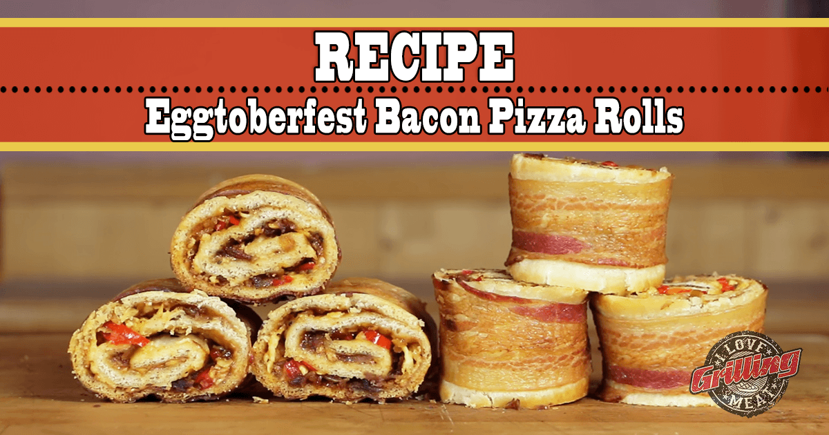 Eggtoberfest Bacon Pizza Rolls