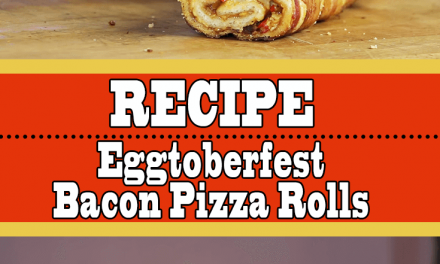 Grilled Pizza Rolls (Egg-toberfest Bacon Pizza Rolls)