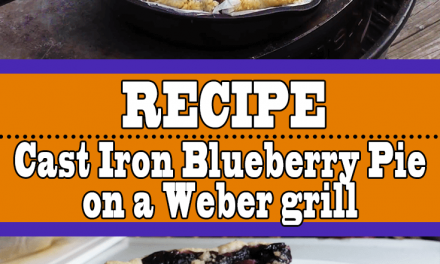 Cast Iron Blueberry Pie On The Grill