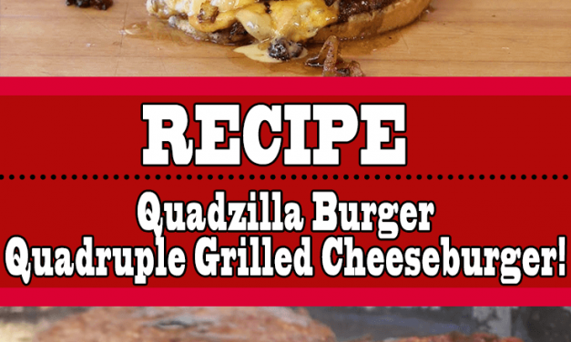 Quadzilla Burger Recipe (Japanese Quadruple Grilled Cheeseburger)